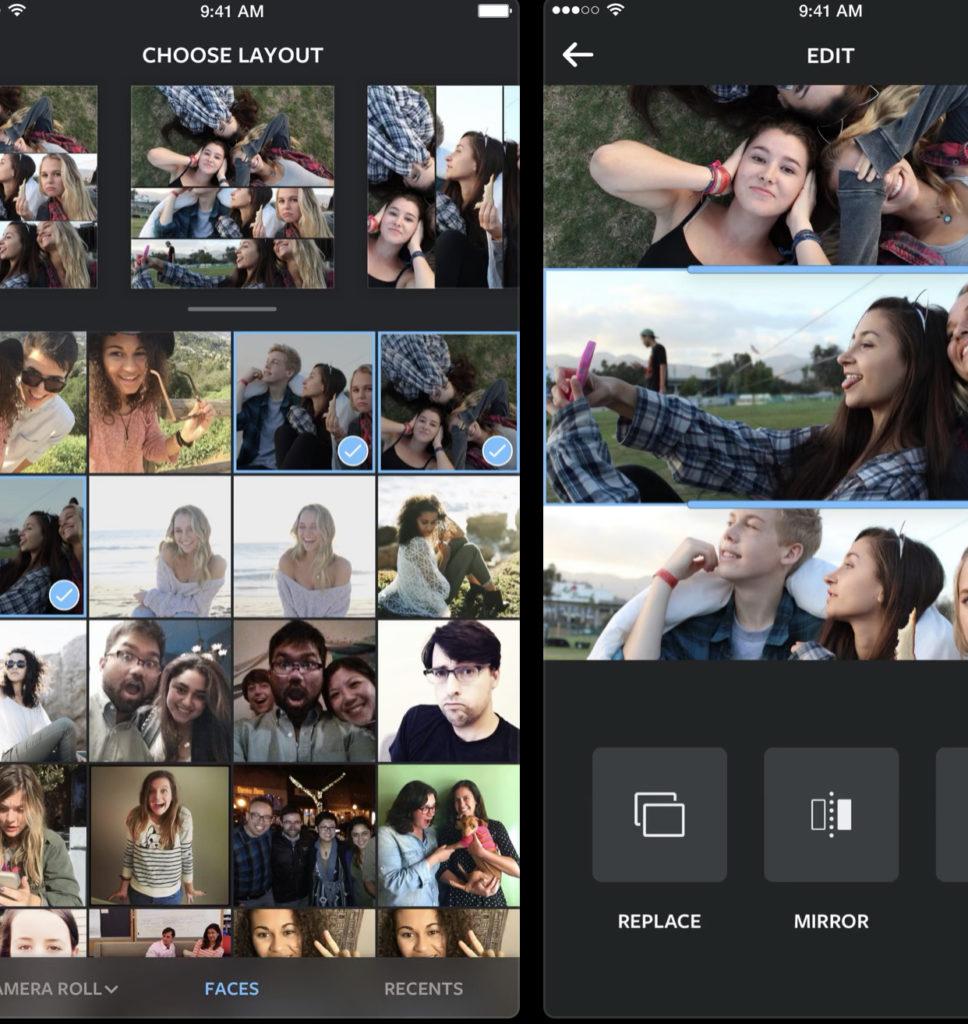 С Instagram Layout даже начинающий пользователь сможет быстро создать интересный фотоколлаж